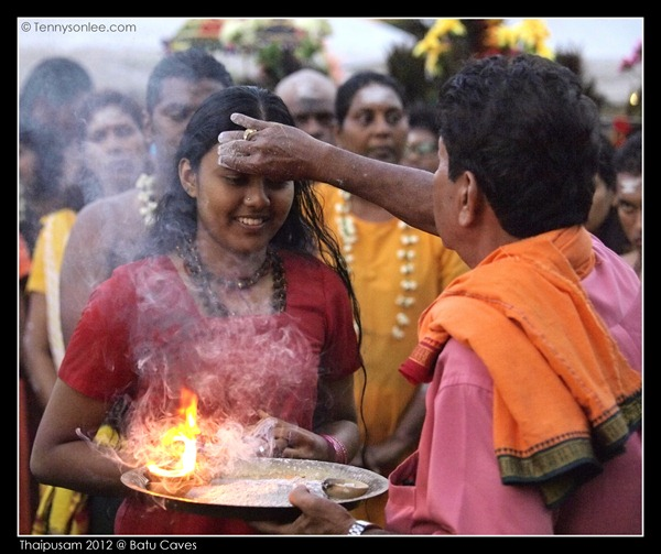 Blessing on Thaipusam (2)