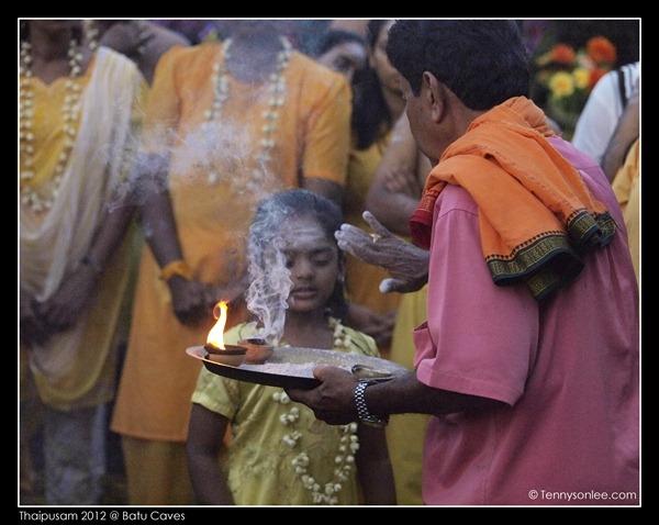 Blessing on Thaipusam (3)