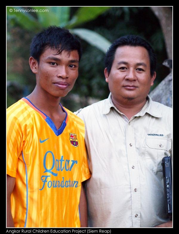 Phansy Ros and Teacher