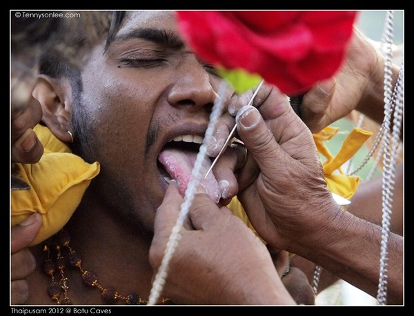 Piercing at Thaipusam (1)