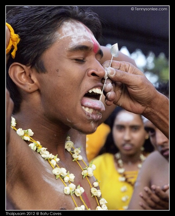 Piercing at Thaipusam (3)
