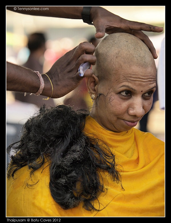 Shaving on Thaipusam (1)