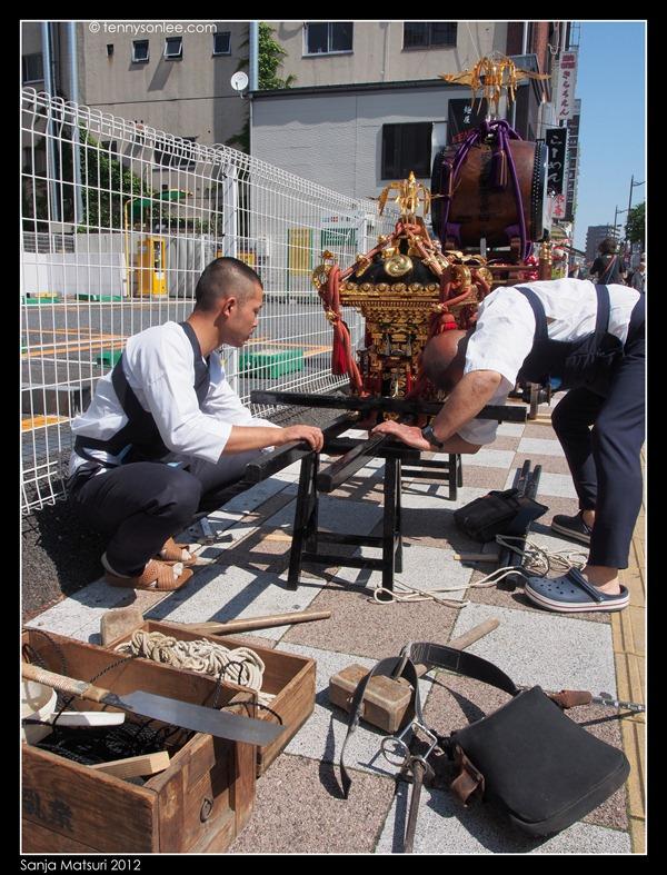 三社祭 Sanja Matsuri Preparation (4)