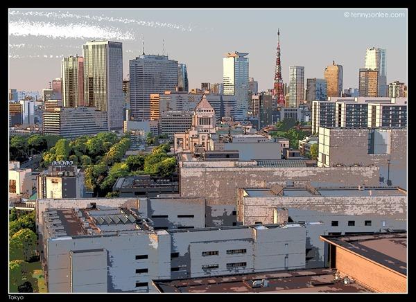 Tokyo Cityscape at Hanzomon (3)