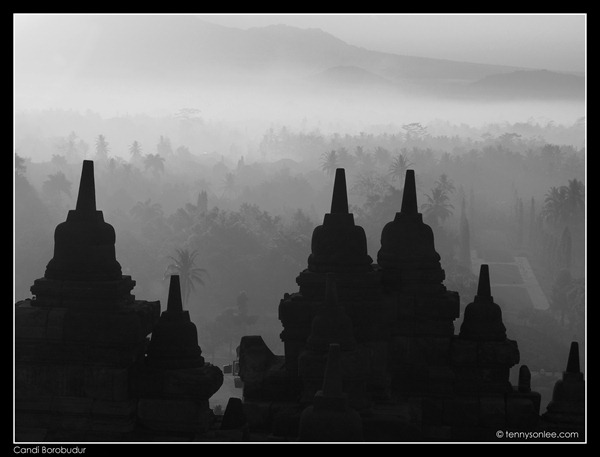 Borobudur stupas (2)