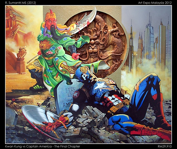 Kwan Kung vs Captain America