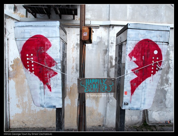 Ernest Zacharevic Mirrors George Town mural - Broken Heart (2)