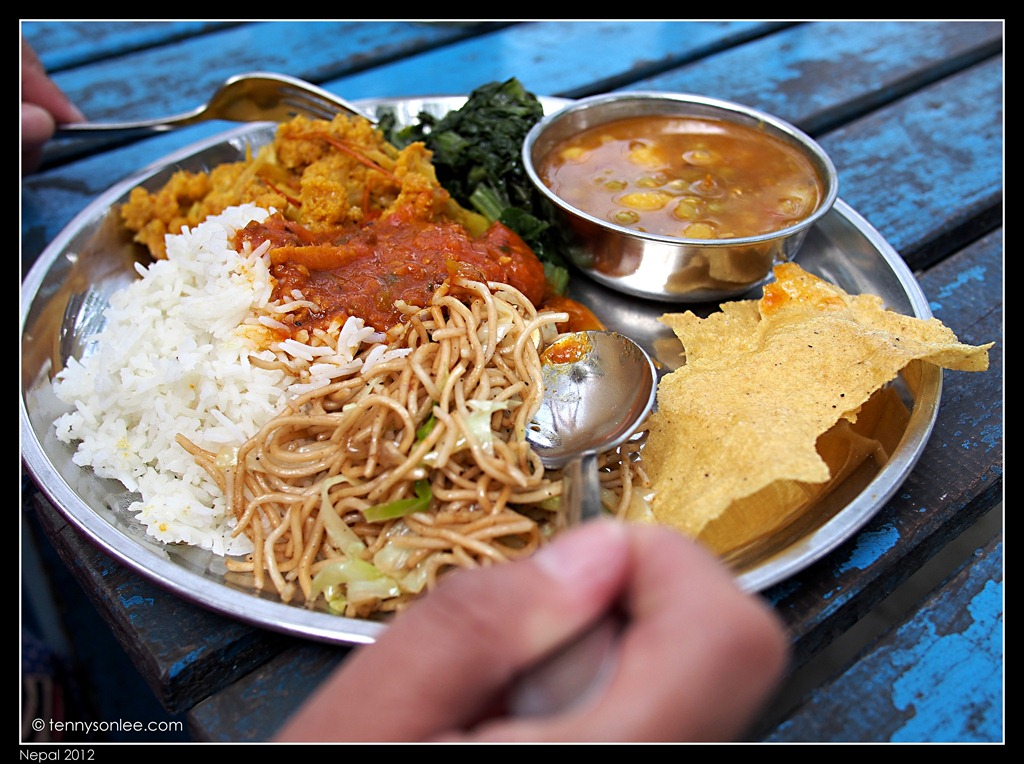 Sample of nepali foods present moment for Cuisine of nepal