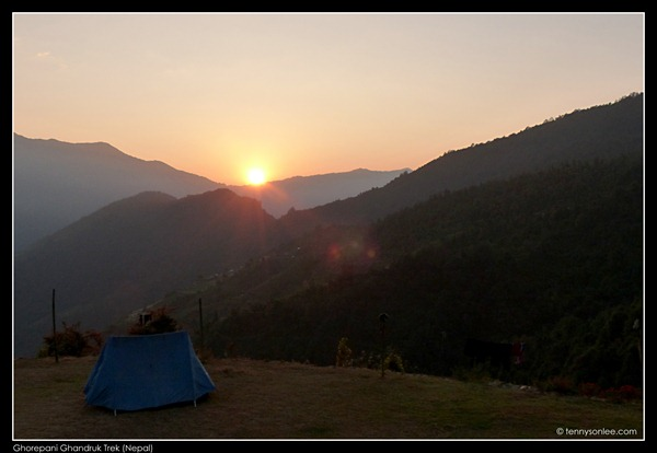 Sunrise at Tadapani