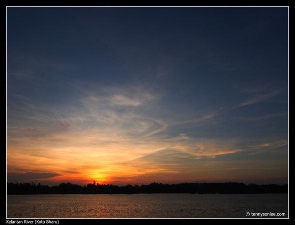 Sunset on Sungai Kelantan