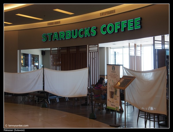 Starbucks covered up during Ramadhan