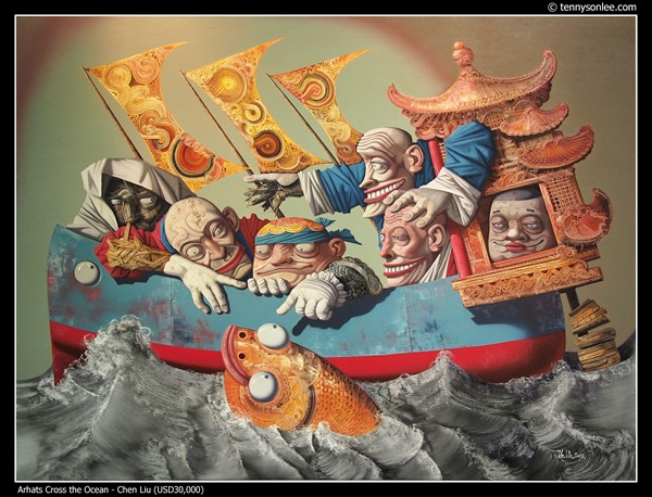 Arhats Cross the Ocean by Chen Liu