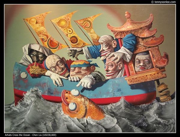 Arhats Cross the Ocean by Chen Liu
