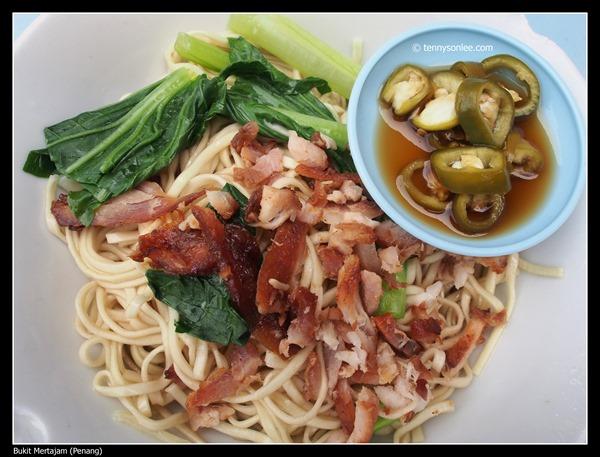 Dry Wanton Mee at Bukit Mertajam  大山脚云吞面